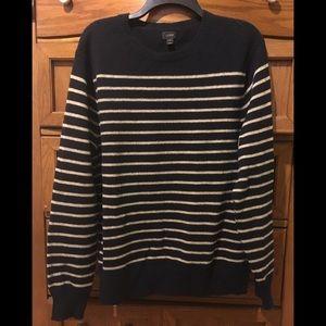J. Crew lambs wool striped sweater